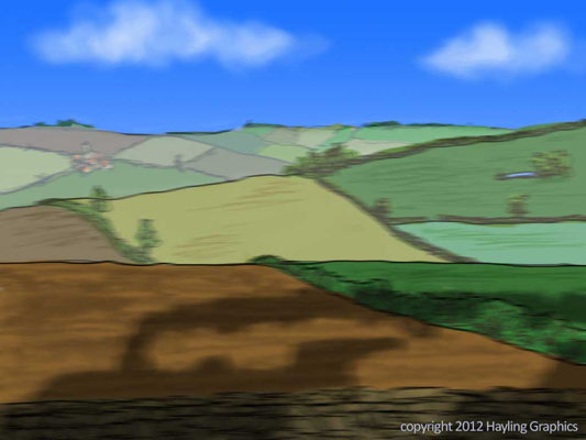 Wind in the Willows: View from a speeding Train